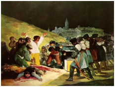 Goya French Firing Squad of Spanish Popular Uprising 1808