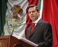 Enrique Peña Nieto president of Mexico enacts energy deregulation